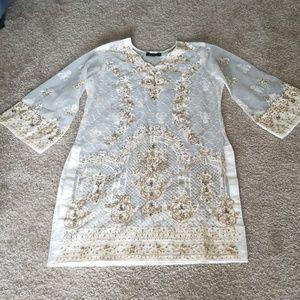 Dresses & Skirts - White shilwar kameez